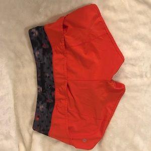 Lululemon speed shorts tomato red size 6